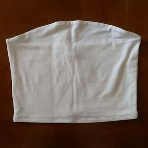 wild fable Tops - Wild Fable white cropped tube top size M (NWT)